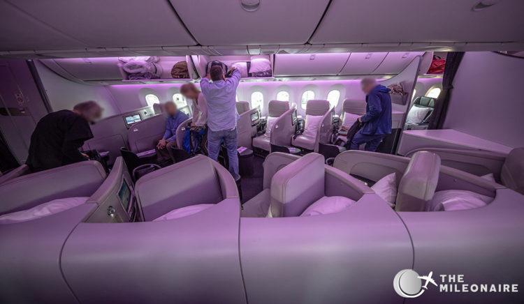 air new zealand 787 business class cabin