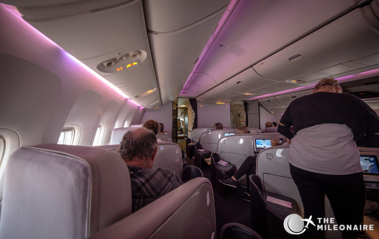 air nz 777 business cabin