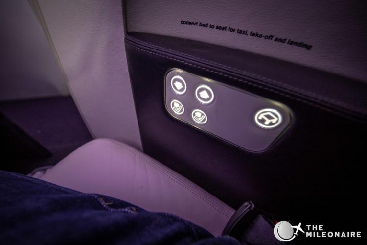 air nz seat controls