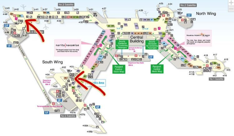 ana lounge map nrt