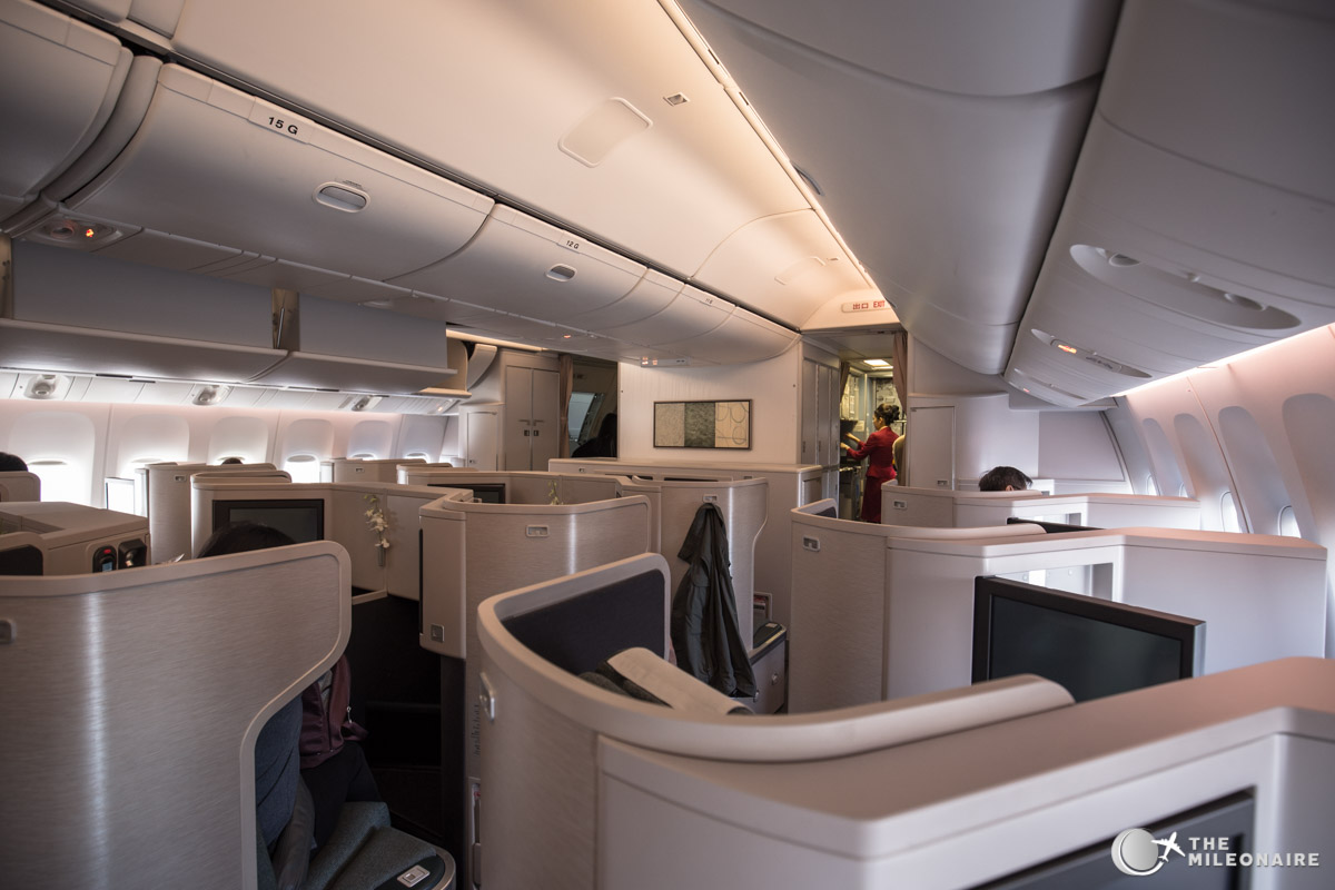 cathay pacific 777 business class kabine