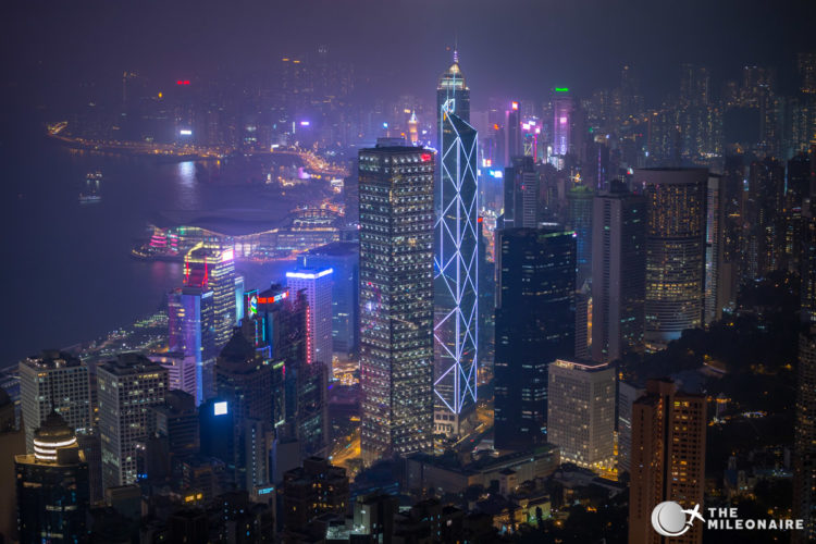 central hong kong view night