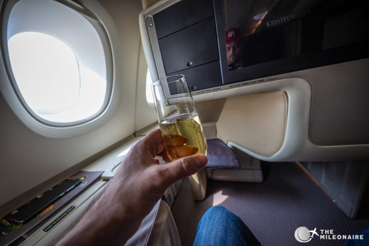 champagne business class sq