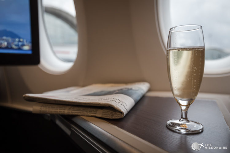 champagner cathay pacific