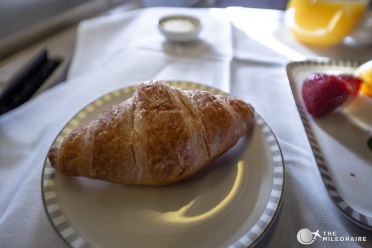 croissant on plane