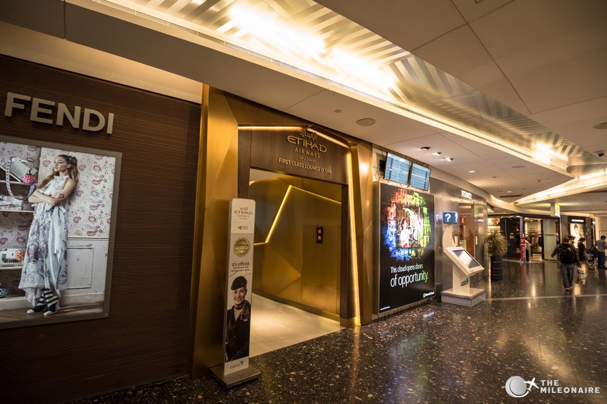entrance etihad first class lounge