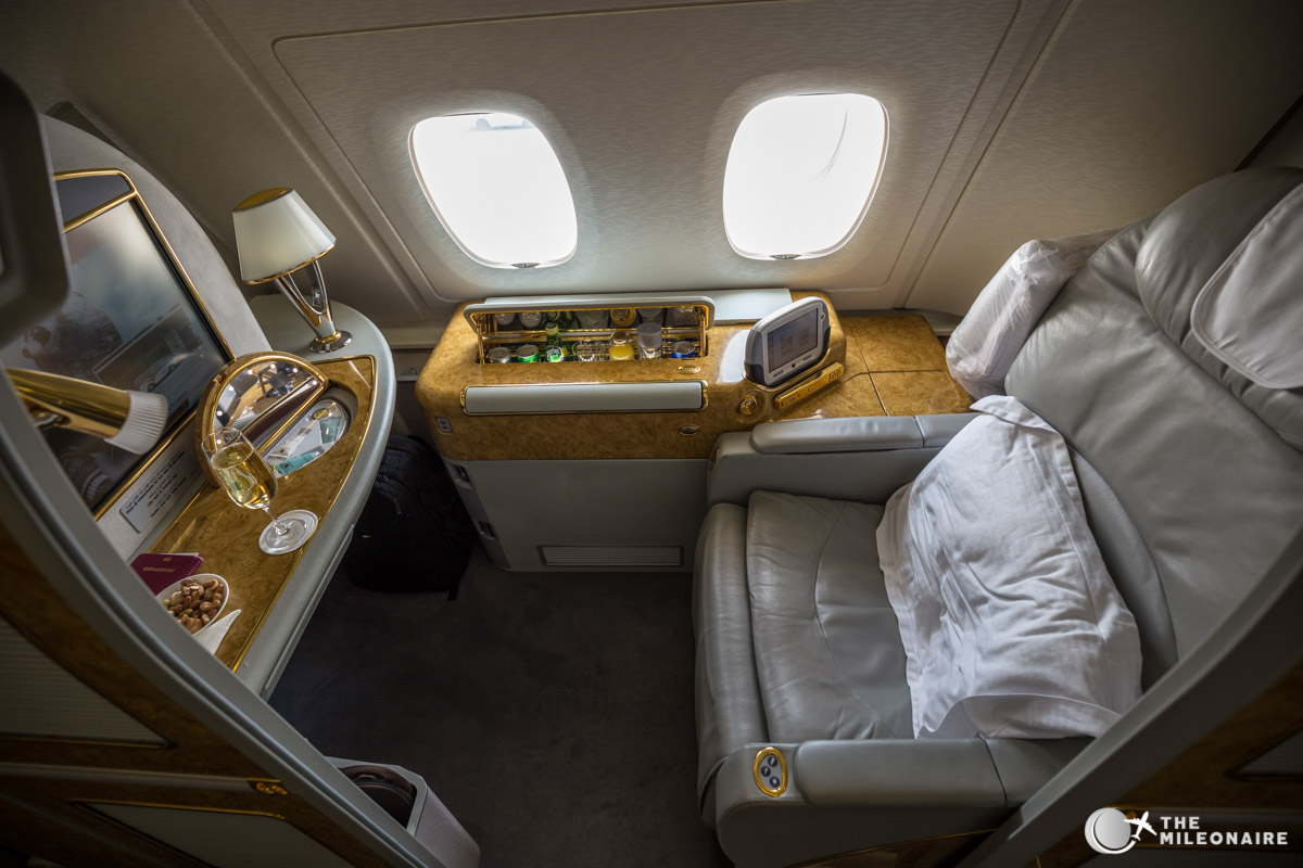 Emirates A380 First Class Suites Reisebericht Review The Mileonaire