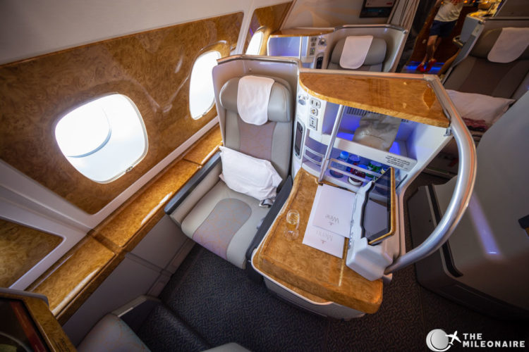 emirates business seat review