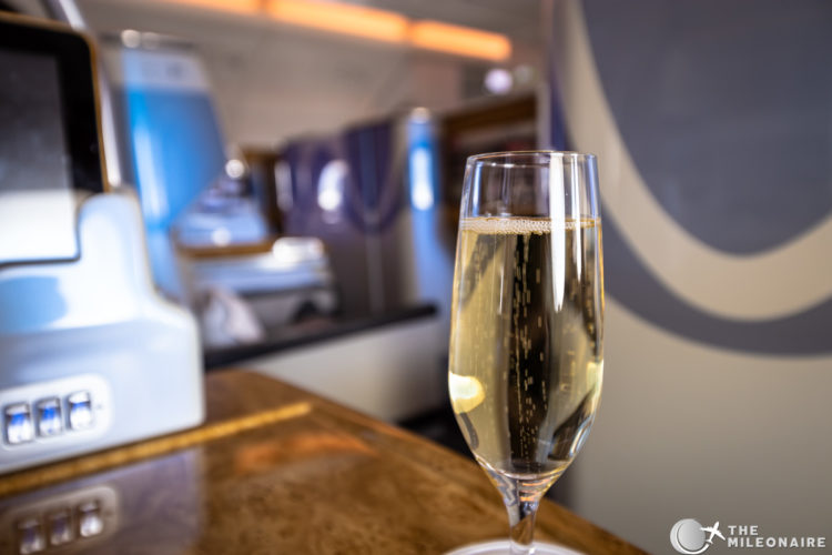 emirates champagne a380