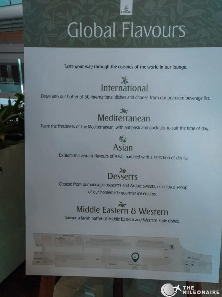 emirates lounge food