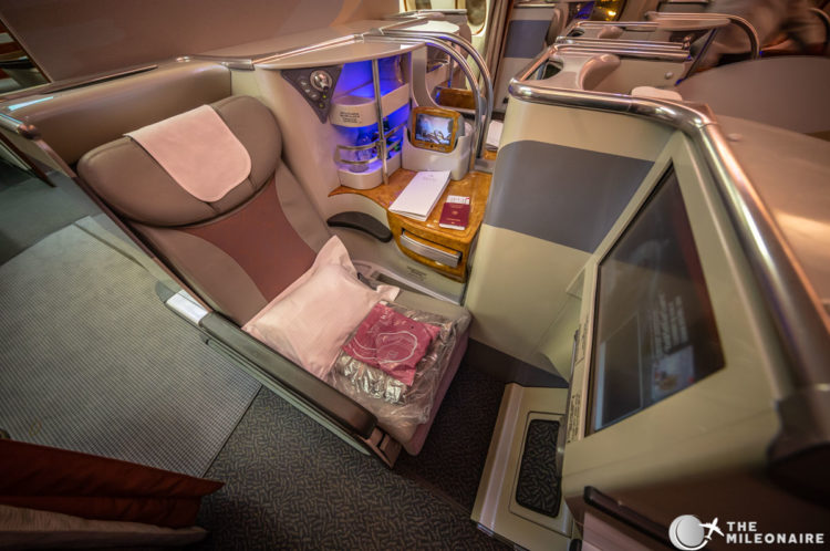 emirates middle seat a380