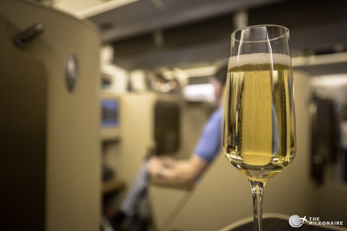 etihad 777 business class champagne