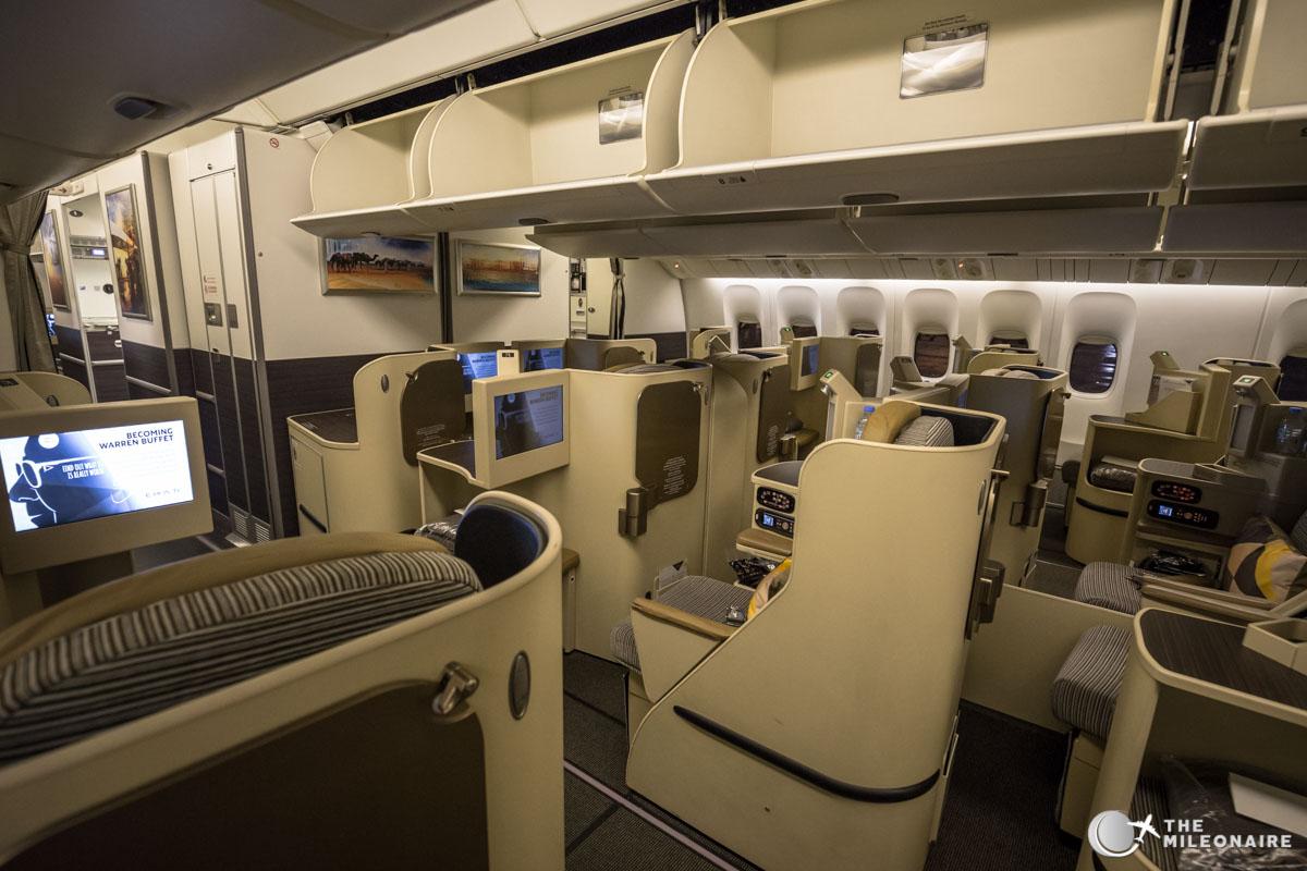 Etihad 777 Business Class Cabin