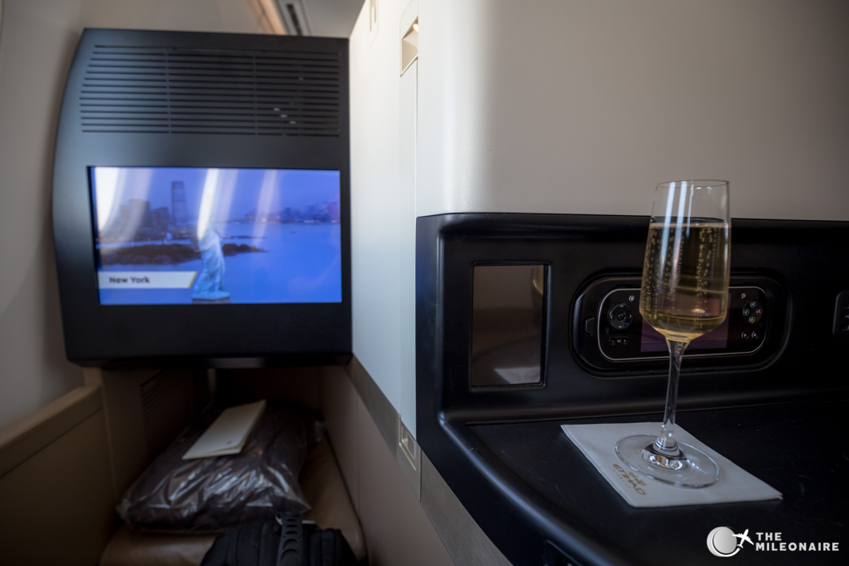 etihad 787 business class champagne