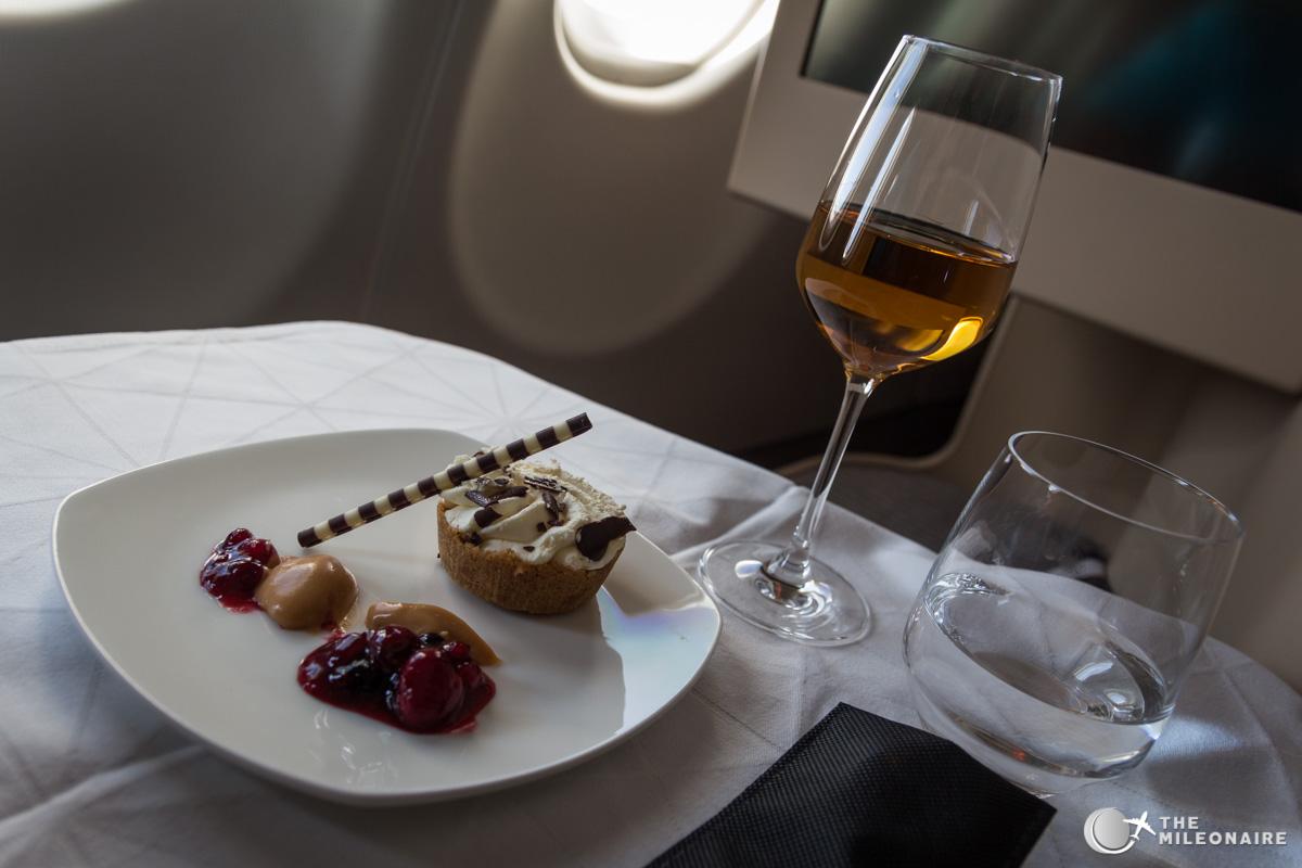 etihad a330 business class dessert
