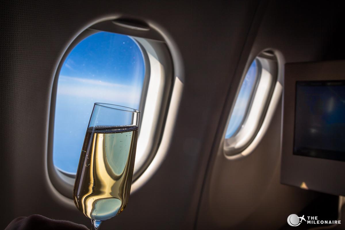 etihad business class champagne