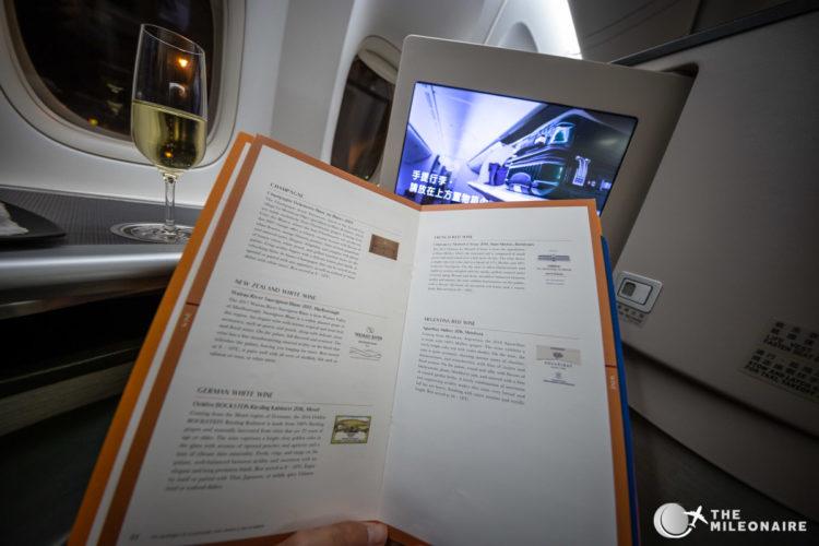 eva air business menu