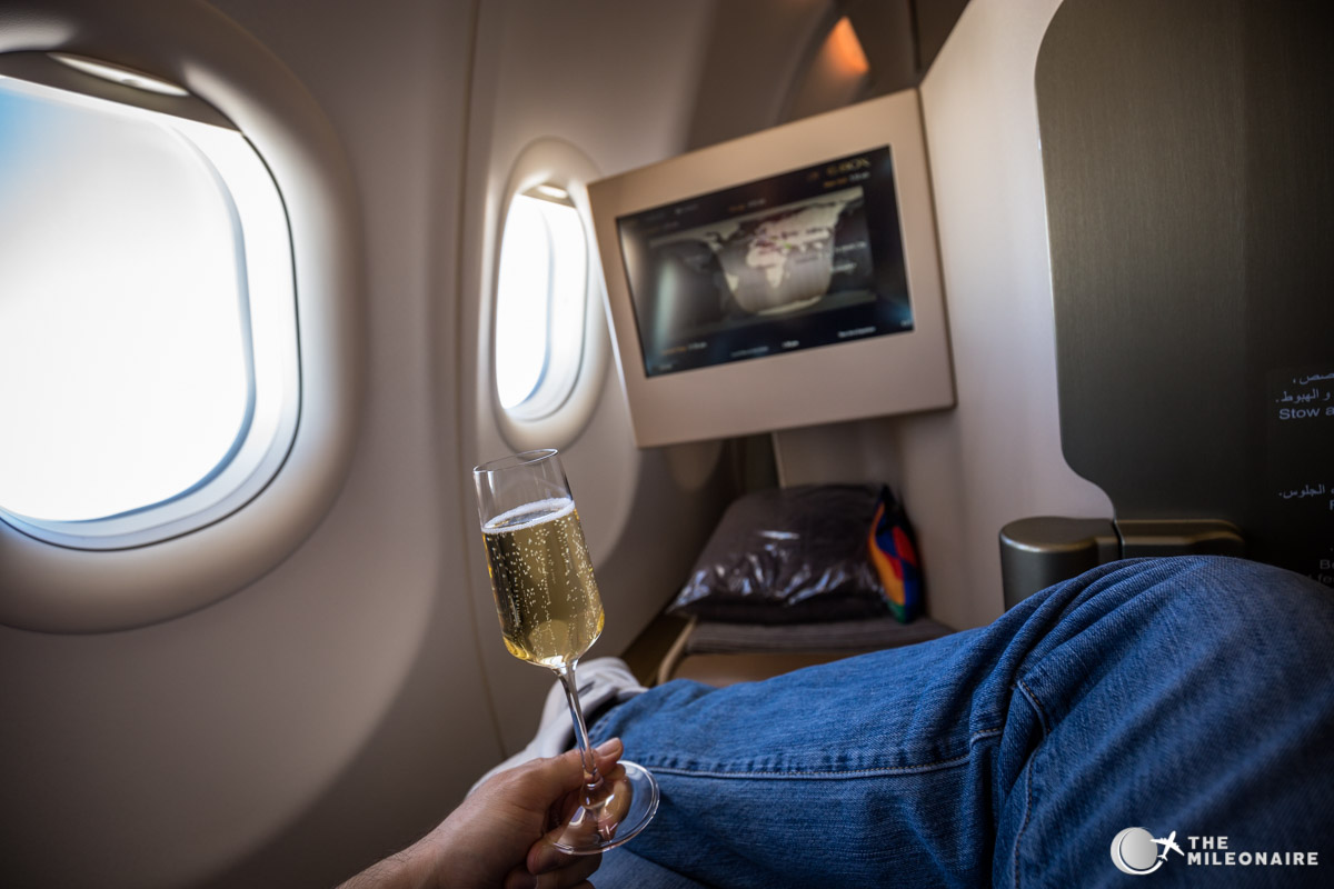 flight with etihad a330 business