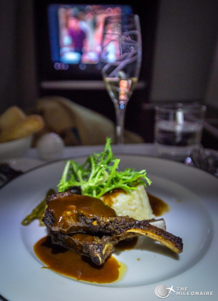 lamb plane food