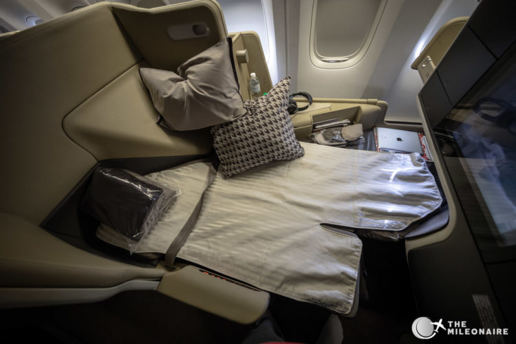 lie flat seat singapore