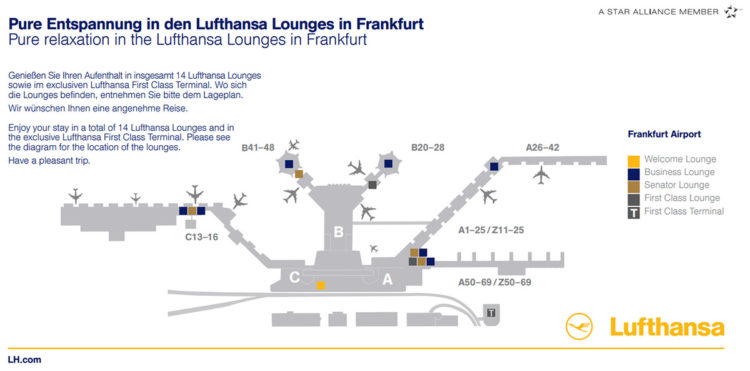lufthansa lounge map frankfurt