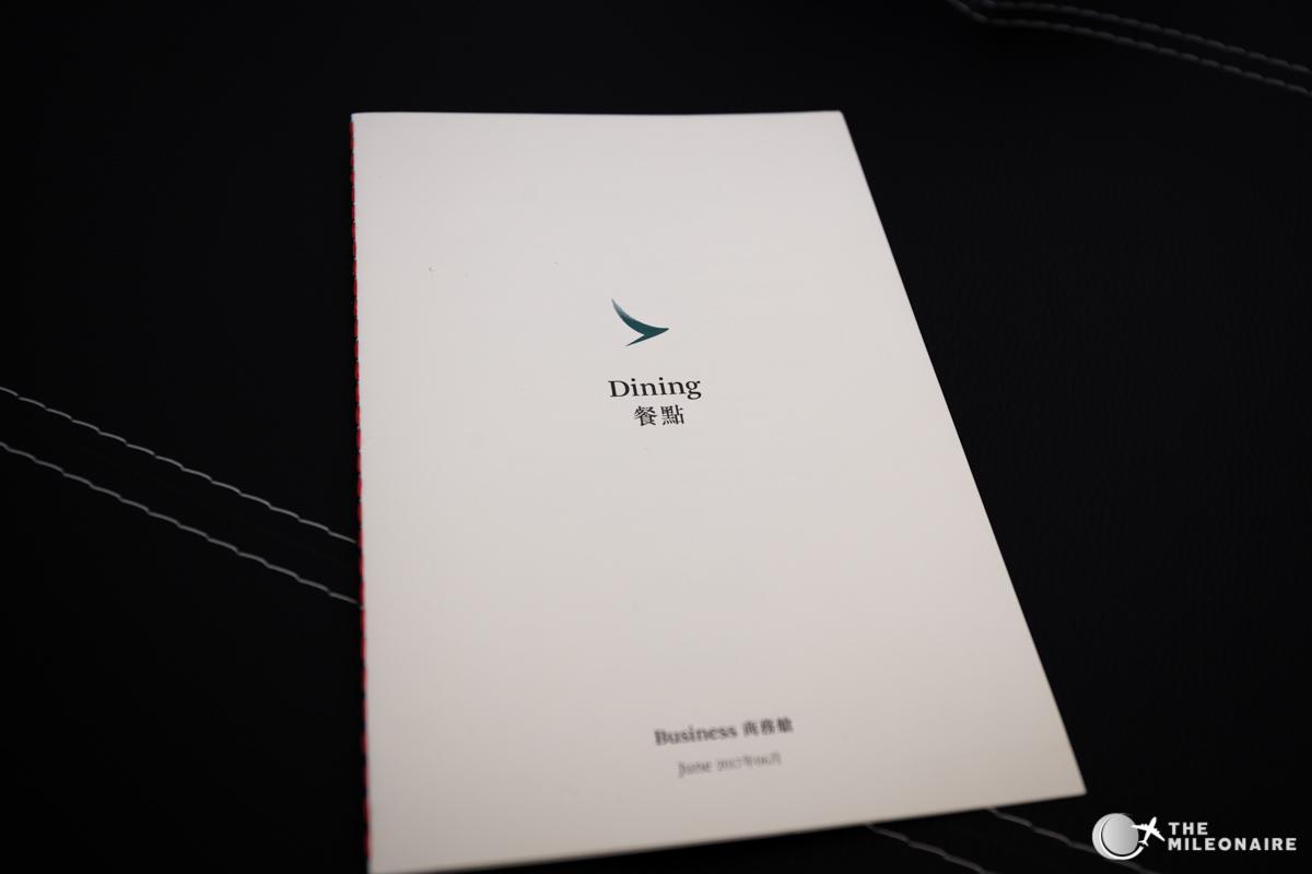 menue karte cathay pacific 777