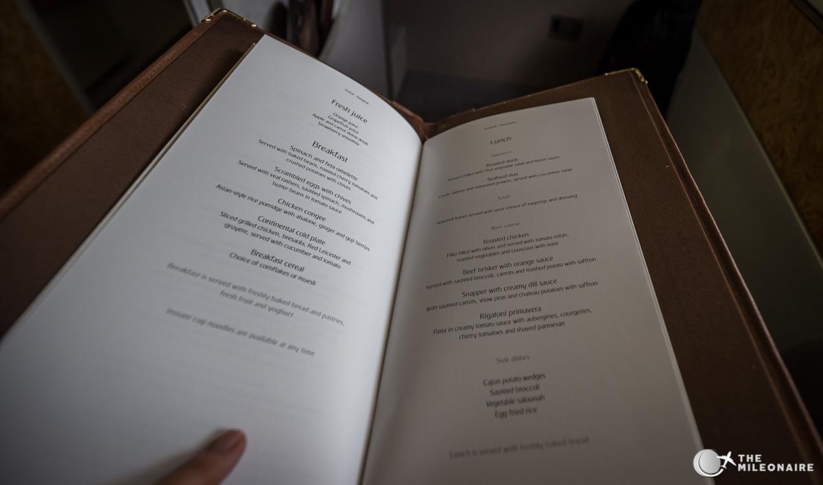 menu emirates first