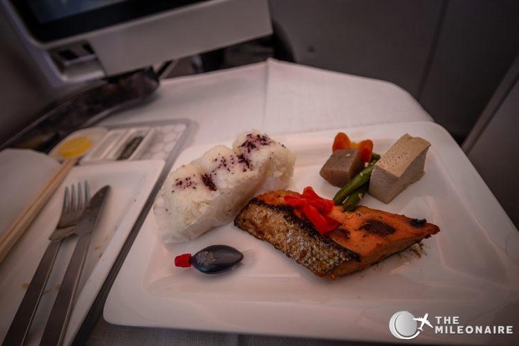 miso salmon air new zealand