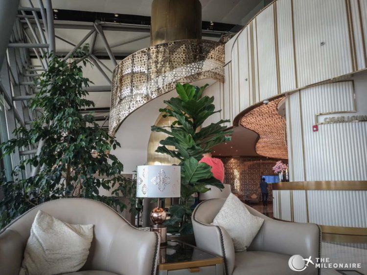 oman air lounge bar
