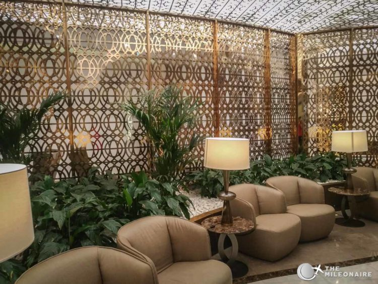 oman air lounge design