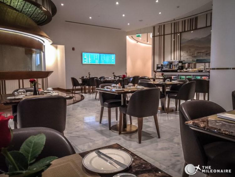 oman air lounge dining