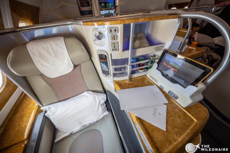 seat amenities emirates