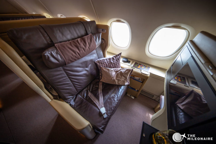 singapore airlines business class seat