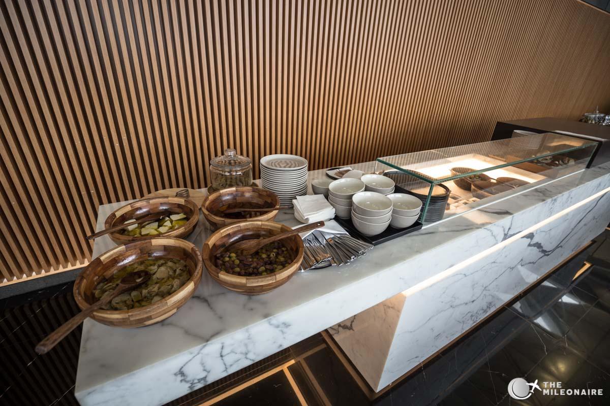snacks buffet lounge