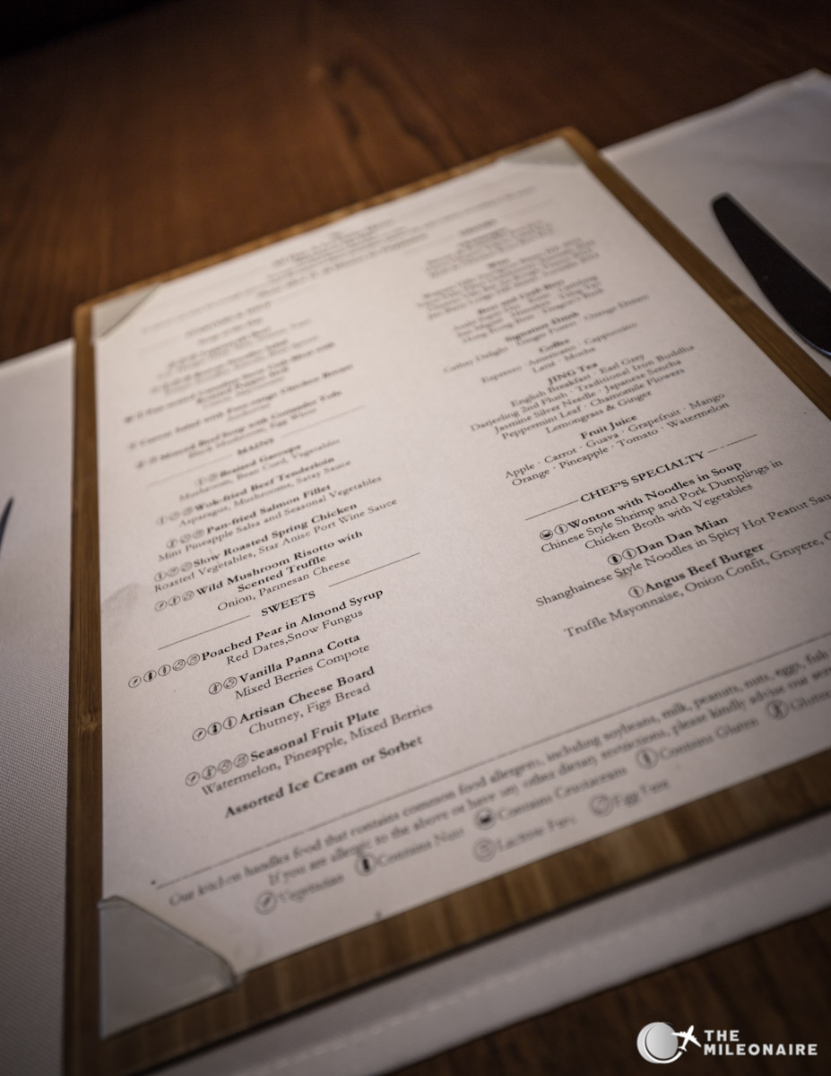 menu card restaurant the pier