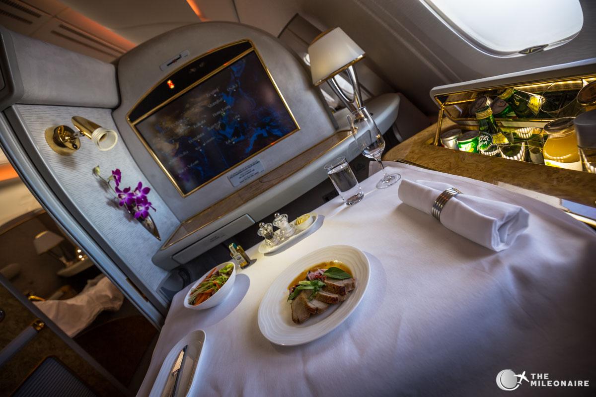 appetizer emirates first class