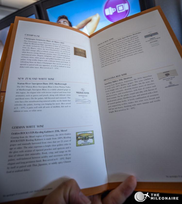 premium laurel class menu